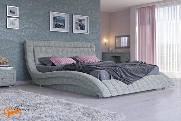 Орматек Кровать Атлантико с подъемным механизмом , экокожа, черная, бежевая, коричневая, белая, кремовая, ткань, рогожка, олива, серый, лен,