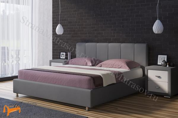 Райтон Кровать двуспальная Nuvola 7 , экокожа, белый, чёрный, кремовый, бежевый, коричневый, серый, молочный,