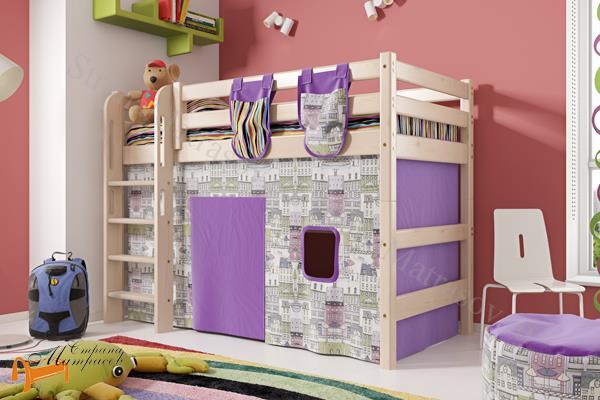 Райтон - детская кровать Райтон полувысокая Отто 5 с прямой лестницей и основанием