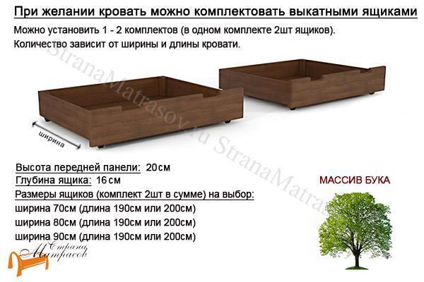Райтон Кровать Марсель-софа с основанием , ящики, бук