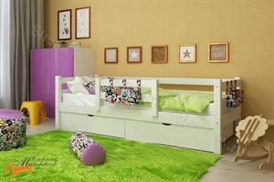 Райтон - Кровать Отто 4 с центральным бортиком и основанием