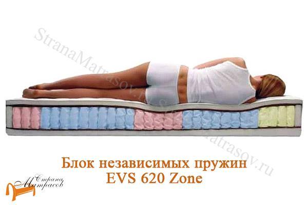 Райтон Матрас Classic Comfort M EVS 620 (5 зон) , кокосовая койра, EVS 620 - zone, зонирование, Raitex, ортопедическая пена, спанбонд