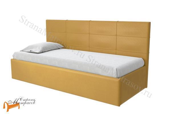 Райтон Кровать Life 1 софа  , экокожа, ткань, коричневый, белый, бежевый, черный, лайф, серый, зеленый, спинка