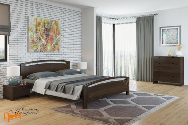 Райтон Кровать Веста 1-R с подъемным механизмом , натуральное дерево, классика, сосна, слоновая кость, орех, коричневый, венге, белый