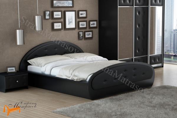 Райтон Кровать Сезия с подъемным механизмом , экокожа, лдсп, кровать орматек, черная, коричневая, шамони, белая, бежевая, кремовая,  ящик