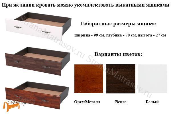 Райтон Кровать Garda 9R с основанием , кровать из металла и массива березы, орех, белый, венге, кованная кровать, ковка