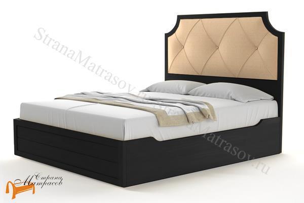 Райтон Кровать Richard с подъемным механизмом , ричард, деревянная, массив, карельская сосна, серый, желтый, коричневый, черный, с подъемным механизмом