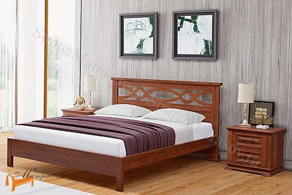 Райтон Кровать Nika М - тахта с основанием , натуральное дерево, классика, сосна, слоновая кость, орех, коричневый, венге, белый