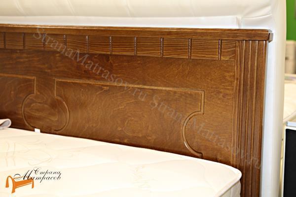 Райтон Кровать Milena-М-тахта с основанием , натуральное дерево, классика, сосна, слоновая кость, орех, коричневый, венге, белый