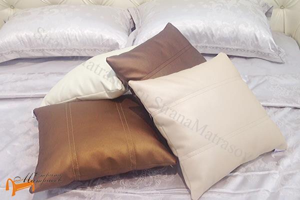 Райтон Подушка декоративная из ткани , белая, черная, коричневая, красная, зеленая, кремовая, бежевая, медная, бронзовая