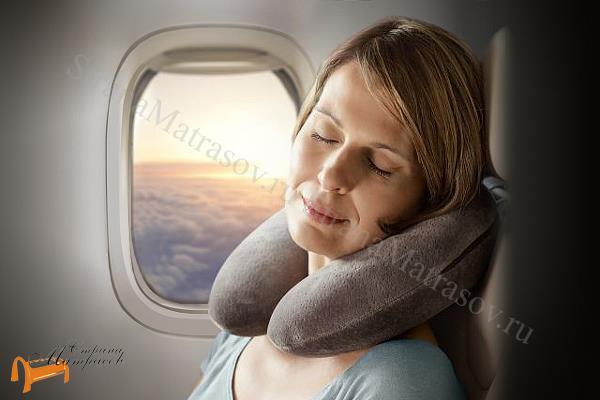 Tempur (Дания) Подушка Воротник для путешествий Transit Pillow  28 х 30см ,Транзит Пилоу, для самолета, темпур, материал с эффектом памяти