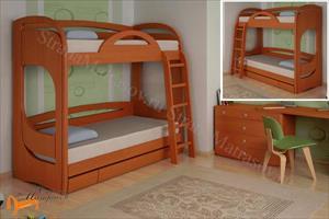 Торис - детская кровать двухъярусная Миа 2 с ящиком