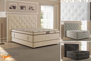 Verda - Кровать Classic с основанием Basement, уменьшенное изголовье