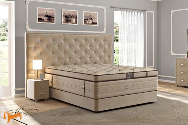 Verda Кровать Classic с основанием Podium M , спальная система Верда, люкс, серый, белый, графит, черный, снежно - белый