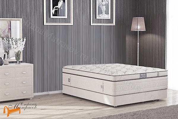Verda Кровать Podium M , сплошное основание, подиум, без утопления, ткань велсофт, экокожа, гарантия