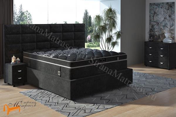 Verda Кровать Chocolate с основанием Island M , спальная система Верда, шоколад, серый, белый, графит,