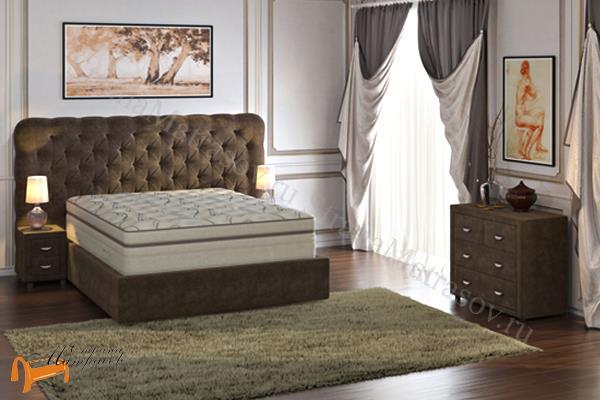 Verda Кровать Cloud с основанием Island M , спальная система клауд, шоколад, серый, белый, графит,