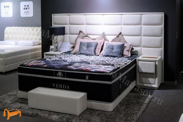 Verda Кровать Chocolate с основанием Basement , спальная система Верда, шоколад, серый, белый, графит,
