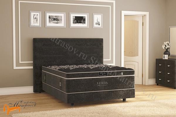 Verda Кровать Modern с основанием Basement, уменьшенное изголовье , спальная система модерн, шоколад, серый, белый, графит,
