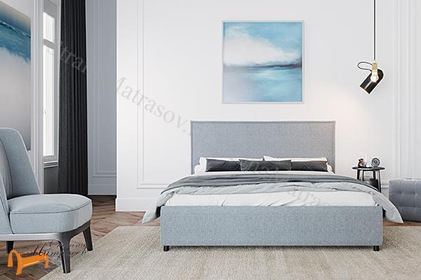 DreamLine Кровать Абрис с подъемным механизмом , ящик, мягкая, малогабаритная, Велюр Песок, Слива, Синий, бежевая, Рогожка Коричневая