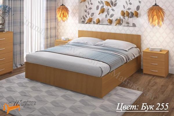 Промтекс-Ориент Кровать Рено 2  , ЛДСП, основание, черный, красный, оранжевый, желтый