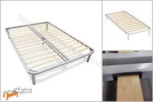 Сонум - Основание для кровати металлическое с березовыми ламелями с ножками