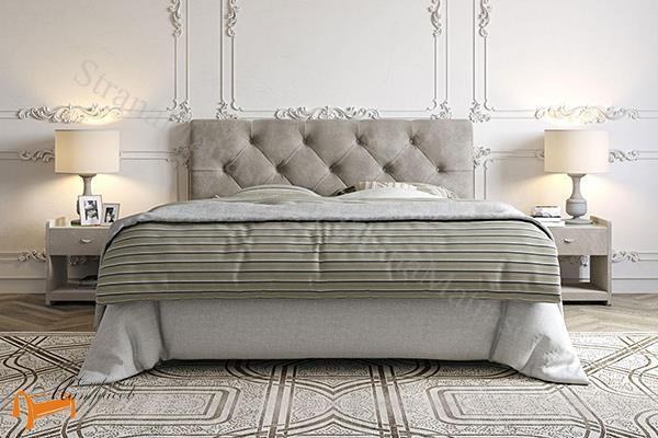 Сонум Кровать Bari с основанием , экокожа, бари, велюр, коричневый, бежевый, белый, серый, черный
